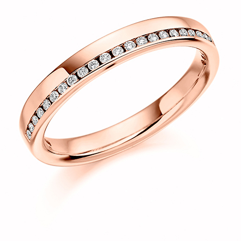 0.12ct Offset Diamond Ring