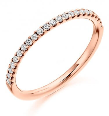 Half Set Round Diamond Ring