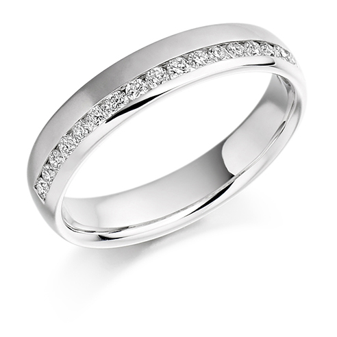 0.26ct Offset Diamond Ring