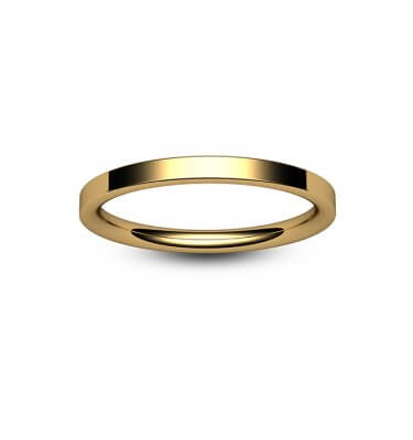 9ct Rose Gold Modern Flat Court Wedding Ring