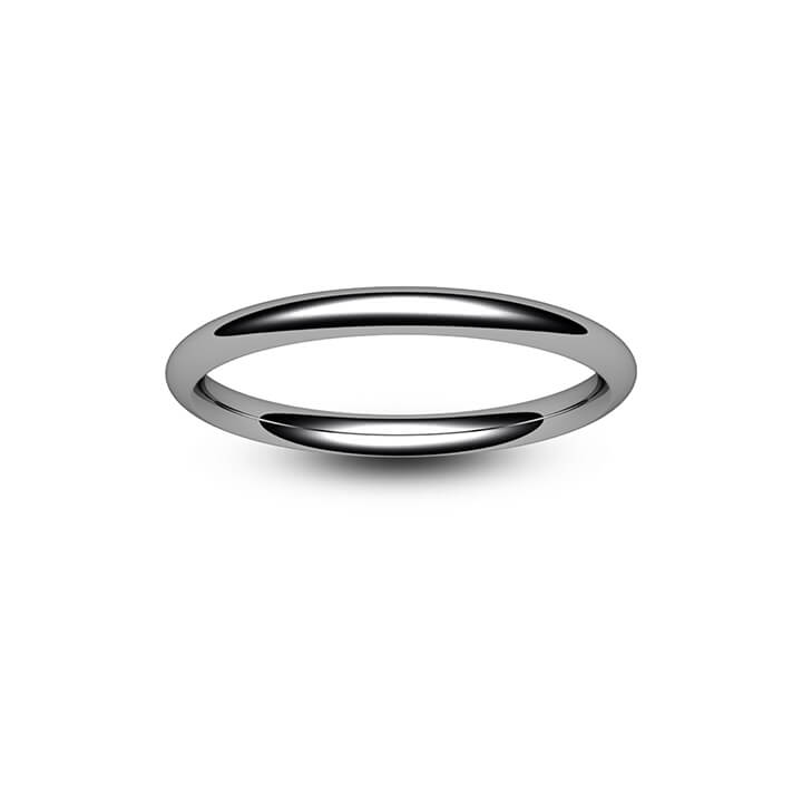18ct White Gold Traditional Court Wedding Ring