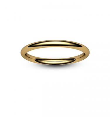 9ct Rose Gold Traditional Court Wedding Ring